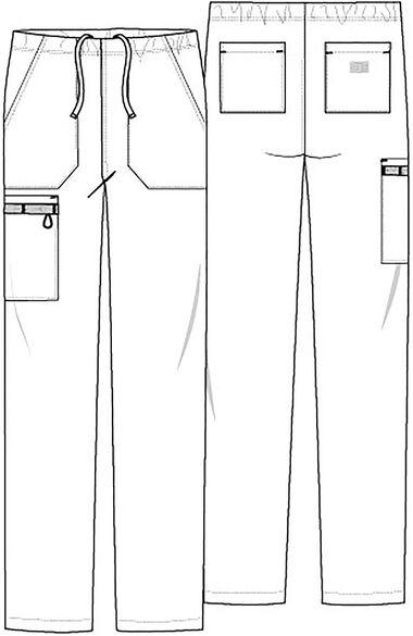 Unisex Tapered Leg Scrub Pant, , large