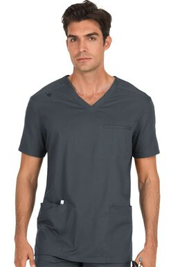 Men's Tyler V-Neck Solid Scrub Top