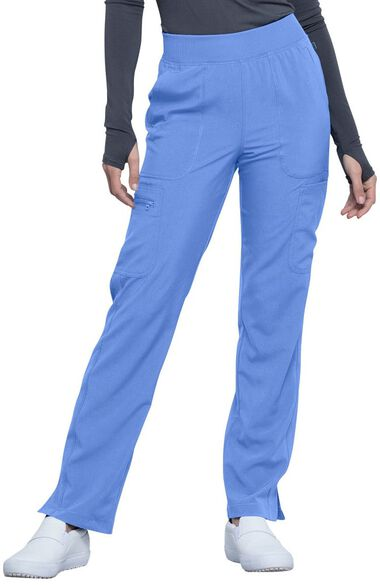 Women's Mid Rise Tapered Leg Pull-On Scrub Pant, , large