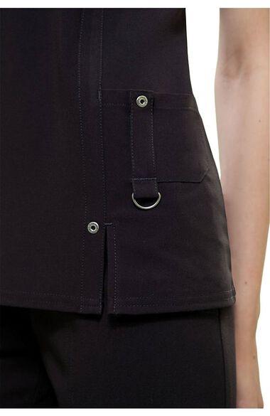 Women's V-Neck Scrub Top & Flare Leg Scrub Pant Set, , large