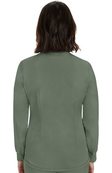 Women's Megan Button Front Solid Scrub Jacket, , large