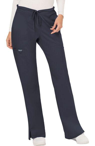 Women's Drawstring Flare Scrub Pant, , large