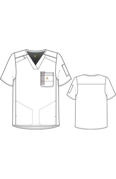 Men's Slim Fit Pocket Solid Scrub Top, , large