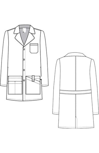 "Clearance Men's Jack 38"" Lab Coat, , large"