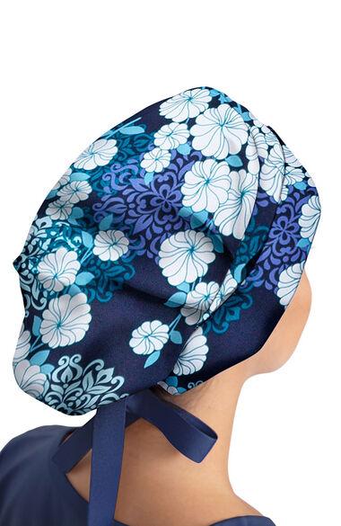 Women's Sloan Riviera Origami Floral Print Bouffant Scrub Hat, , large