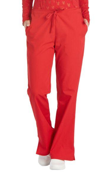 Women's Natural Rise Flare Leg Scrub Pants, , large