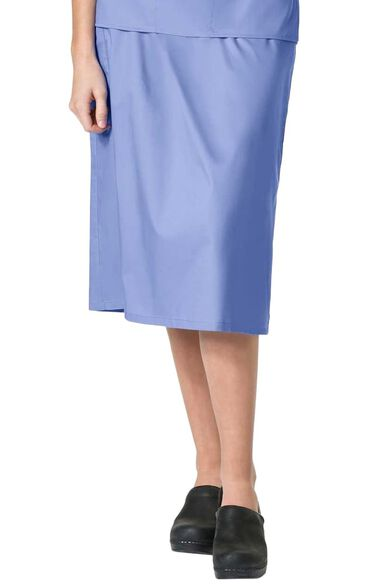 Women's Elastic Waist Cargo Scrub Skirt, , large