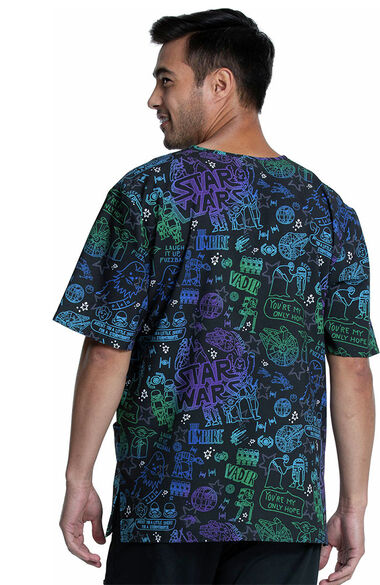 Clearance Unisex My Only Hope Print Scrub Top, , large