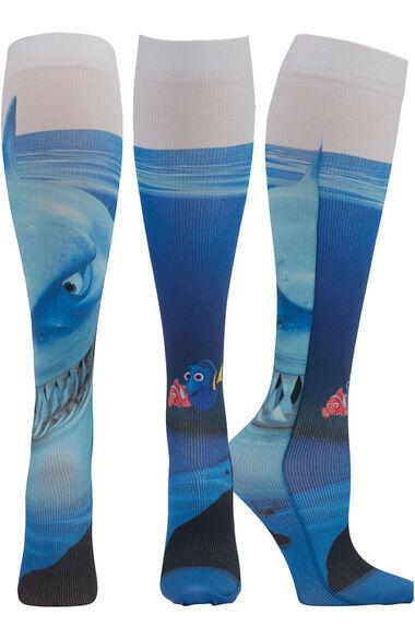 Women's Knee High 8-15 Mmhg Chomp Chomp Print Compression Sock, , large