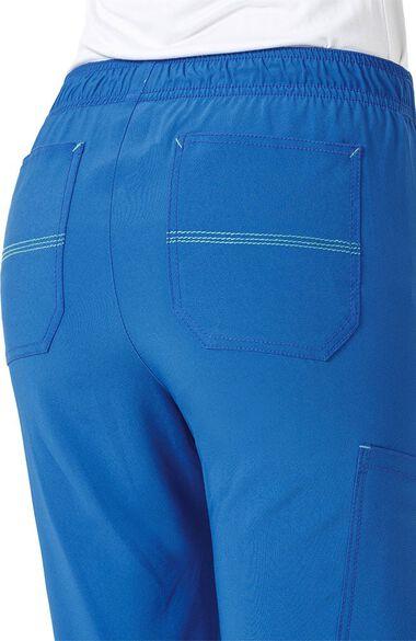 Women's FORCE Slim Drawstring Elastic Cargo Scrub Pant, , large