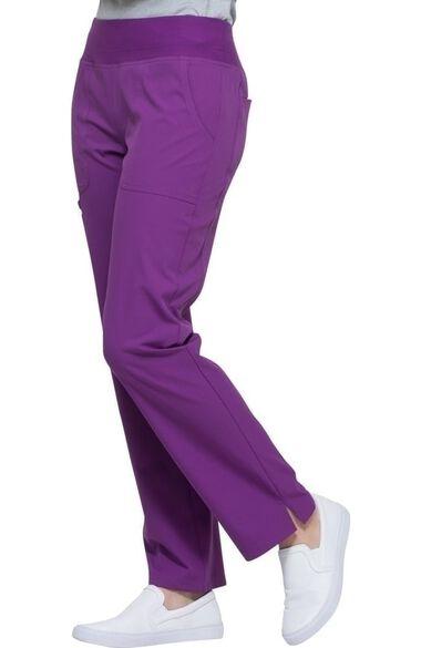 Clearance Women's Elastic Waistband Straight Leg Scrub Pant, , large
