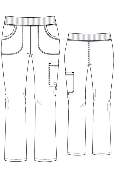 Clearance Women's Stretch Elastic Waistband Scrub Pant, , large