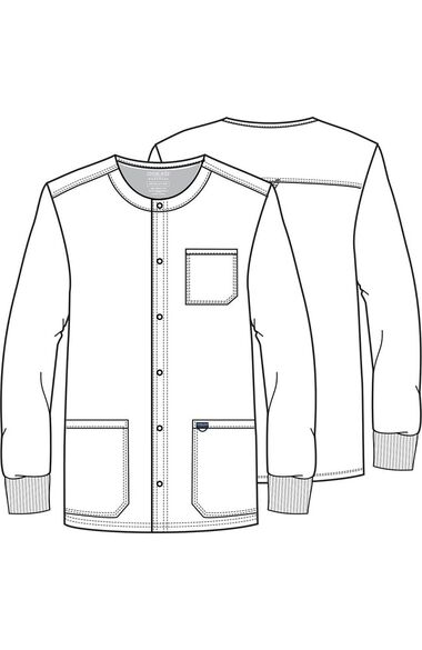 Men's Snap Front Solid Scrub Jacket, , large