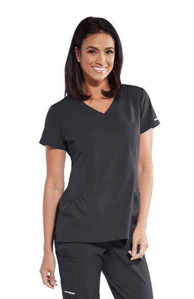 Women's Charge Surplice Solid Scrub Top, , large