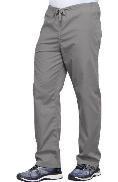 Unisex V-Neck Solid Scrub Top & Drawstring Cargo Scrub Pant Set, , large