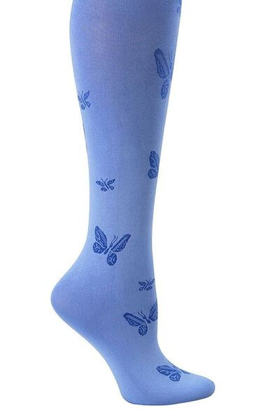 Women's Patterned 11 mmHg Compression Knee-High Lightweight Trouser Socks, , large