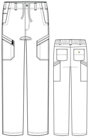 Men's Straight Fit Multi Cargo Scrub Pant, , large