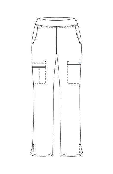 Women's Yoga Elastic Waistband Scrub Pant, , large