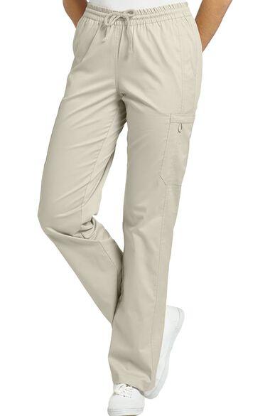Women's Elastic Waist Cargo Scrub Pant, , large