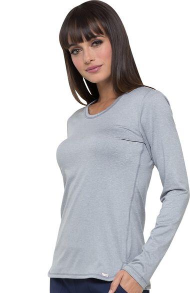 Women's Long Sleeve Knit Solid Underscrub T-Shirt, , large
