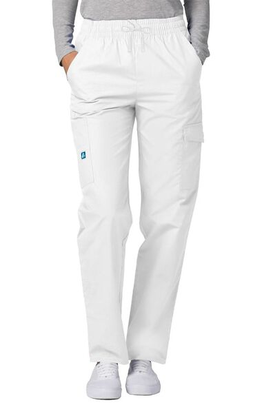 Clearance Women's Multi Pocket Twill Cargo Solid Scrub Pant, , large