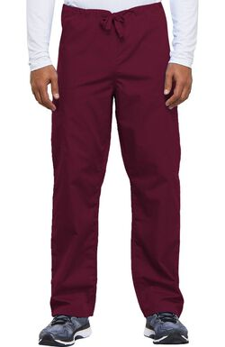 Unisex Drawstring with Cargo Pocket Scrub Pants