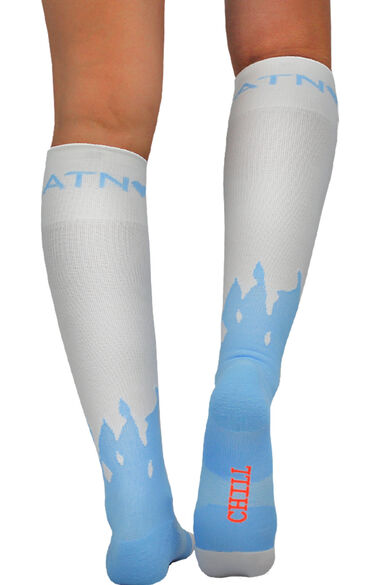 About The Nurse Women's Knee High 20-30 MmHg Snowman Print Compression Sock, , large