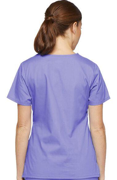 Women's Mock Wrap Top & Drawstring Pant Scrub Set, , large
