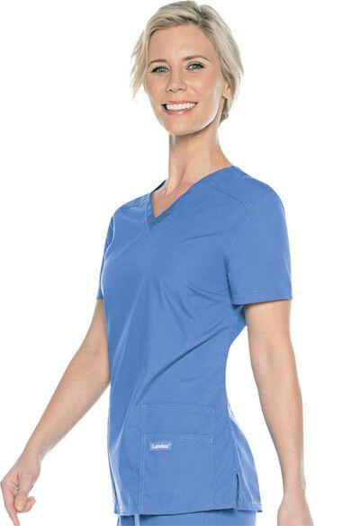 Urbane Essentials Women's Tailored Solid Scrub Top, , large