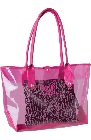 Clearance Women's Get Loud 3 in 1 Clear PVC Tote, , large