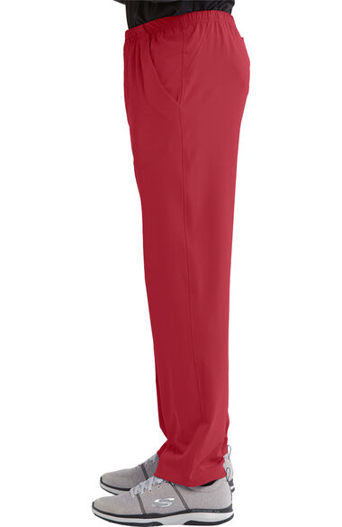 Men's Structure Elastic Waistband Zip Fly Scrub Pant, , large
