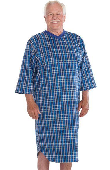 Silvert's Men's Open Back Flannel Print Nightgown, , large