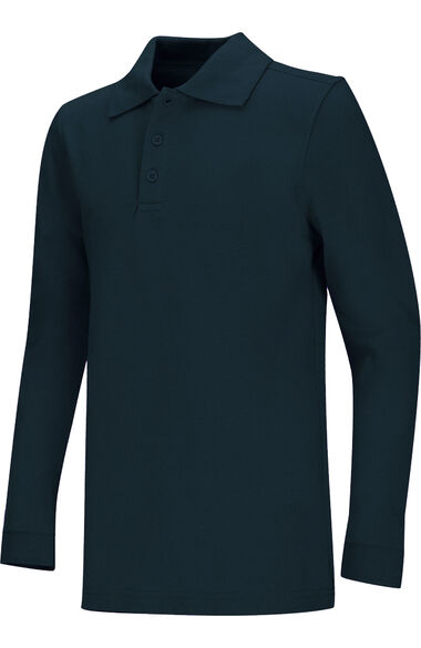 Clearance Unisex Long Sleeve Pique Polo Shirt, , large