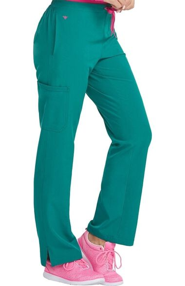 Clearance Women's Drawstring Cargo Pocket Scrub Pant, , large