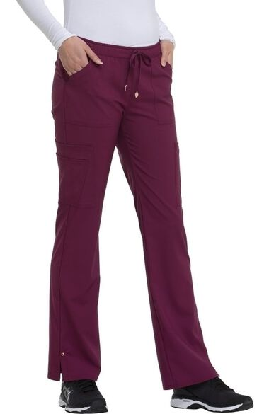 Clearance Women's Charmed Low Rise Drawstring Cargo Scrub Pant, , large