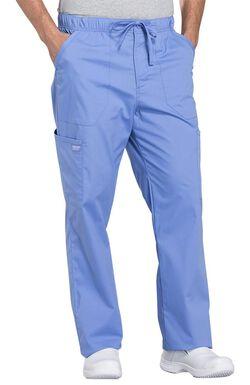 Men's Tapered Leg Zip Fly Drawstring Scrub Pant