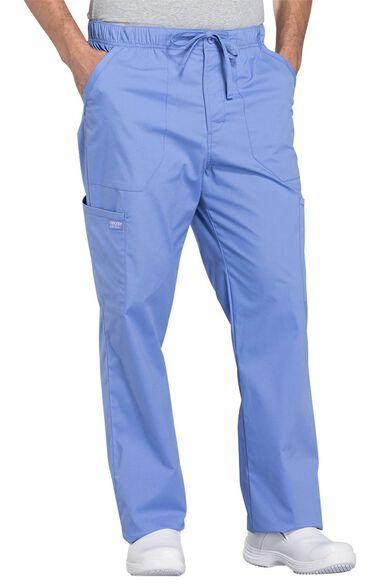 Men's Tapered Leg Zip Fly Drawstring Scrub Pant, , large