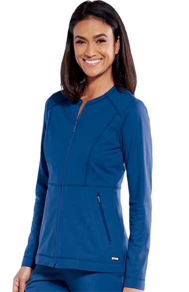 iMPACT by Grey's Anatomy Women's Tempo Solid Scrub Jacket, , large