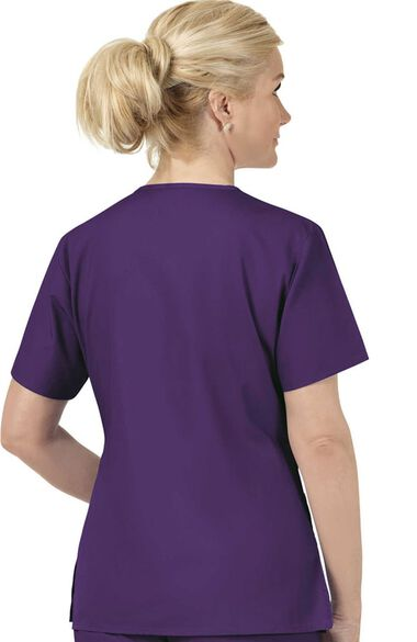 Women's Bravo Lady Fit V-Neck Solid Scrub Top, , large