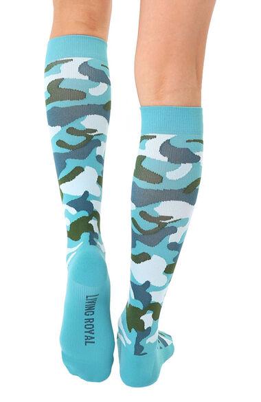Unisex 15-20 Mmhg Lightweight Camo Print Compression Socks, , large
