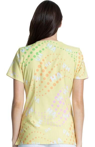 Women's Ha Ha Print Scrub Top, , large