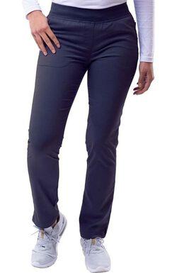 Women's Elastic Waistband Skinny Scrub Pant