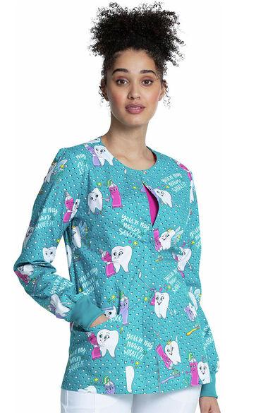 Women's My Main Squeeze Print Scrub Jacket, , large