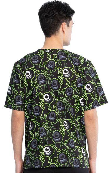 Clearance Unisex Eye On You Print Scrub Top, , large