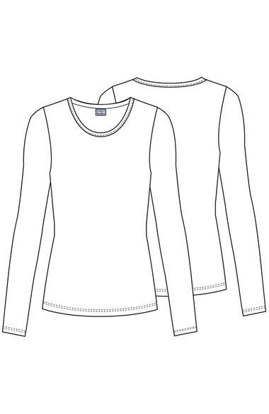 Women's Long Sleeve Knit Underscrub, , large
