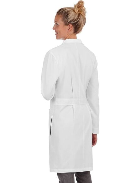 """Women's Knot Button 38"""" Lab Coat with Tablet Pocket, , large"""