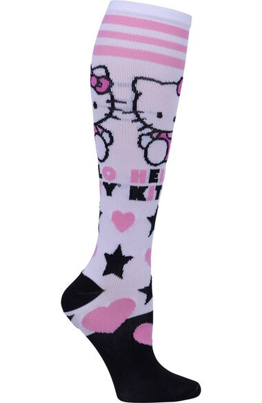 Footwear by Women's 8-12 mmHg Hello Kitty Love Print Compression Sock, , large