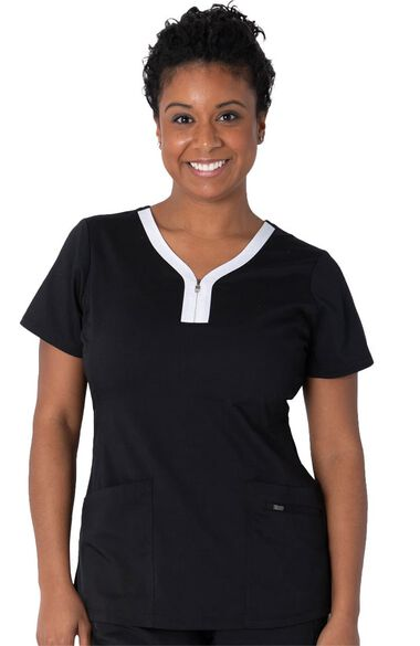 Clearance Women's Limited Edition Jeni Solid Scrub Top, , large