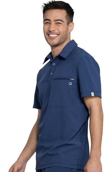 Men's Zip Polo Shirt, , large