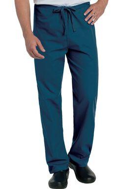 Unisex Classic Fit Reversible Drawstring Scrub Pants
